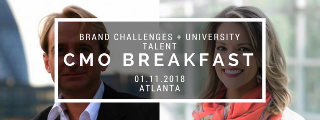 CMO Breakfast Atlanta How To Tackle Big Brand Challenges Using Top University Talent